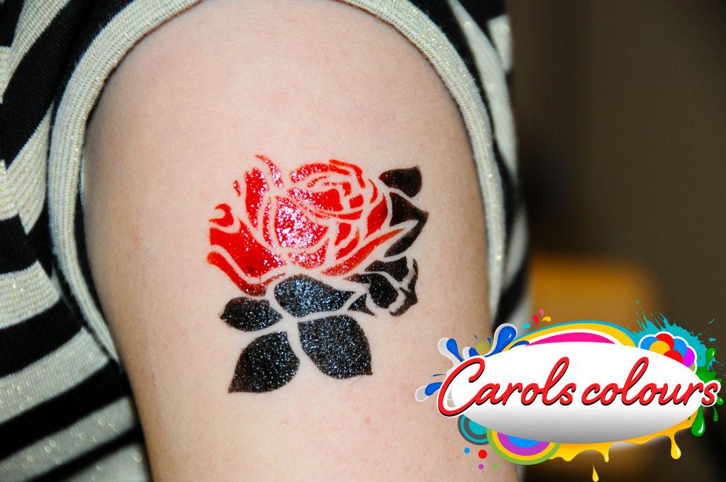 temporary airbrush tattoos carols colours. Black Bedroom Furniture Sets. Home Design Ideas